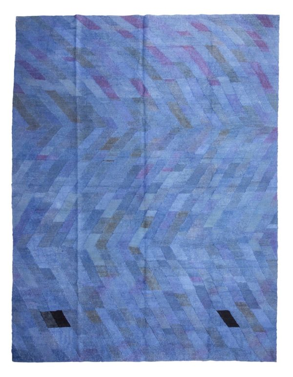 large blue turkish kilim