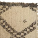 geometric rug brown and cream shaggy corner