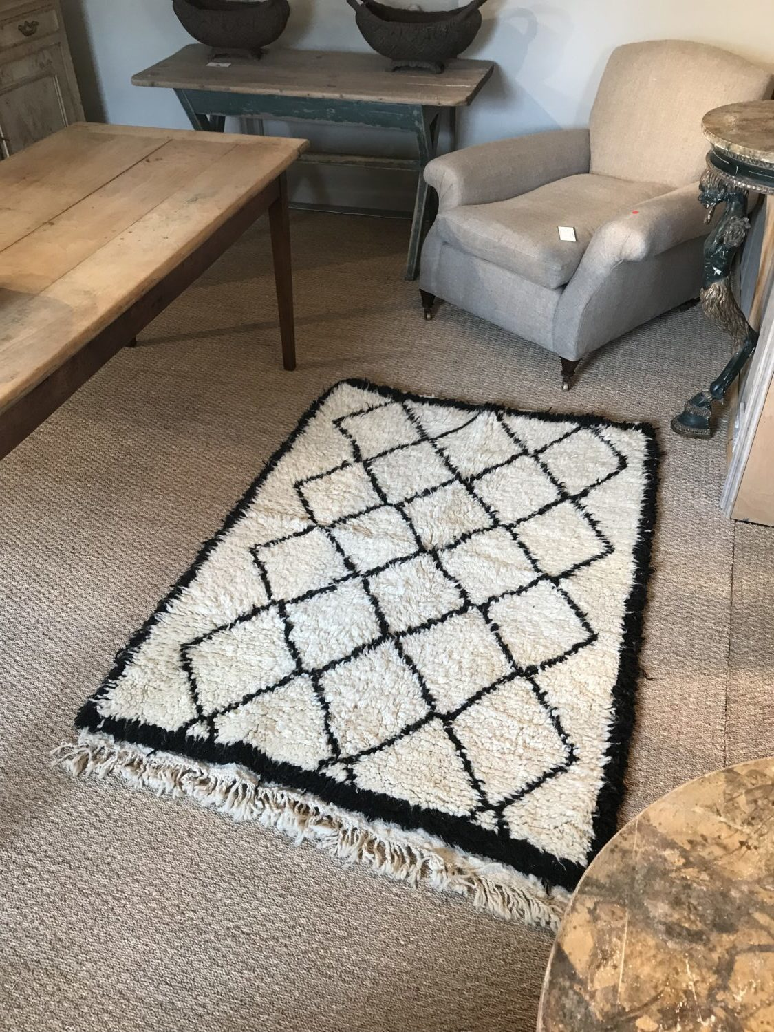 Contemporary Moroccan Small Berber Pile Rug Emilys House