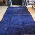 cobalt blue moroccan pile rug