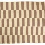 Beige and Brown Geometric Striped Kilim