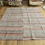 red green striped caput kilim