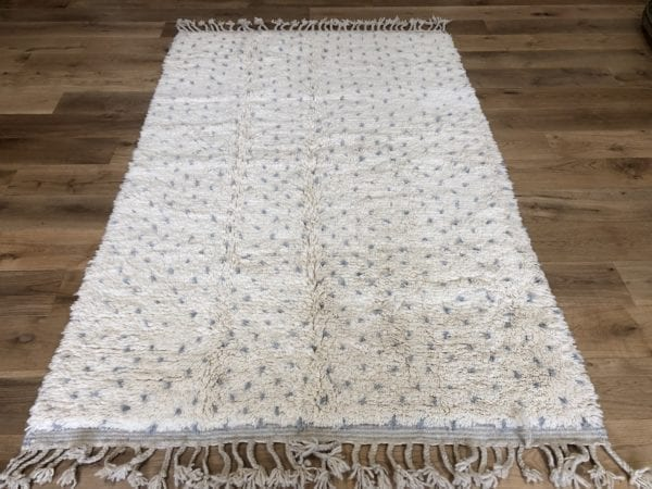grey dots cream carpet moroccan berber rug new made