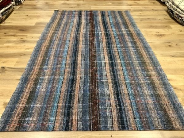 grey and coral Turkish Rug Caput Kilim