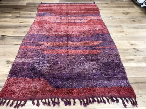 vintage moroccan rug purple carpet medium size