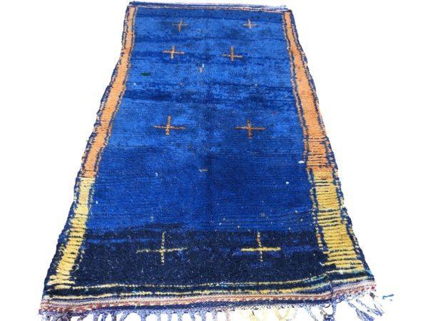 blue rug azilal berber carpet vintage handwoven moroccan rug