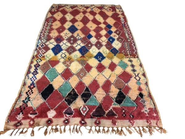 colourful rug vintage moroccan berber carpet