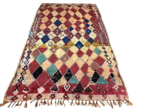 colourful rug vintage moroccan berber carpet