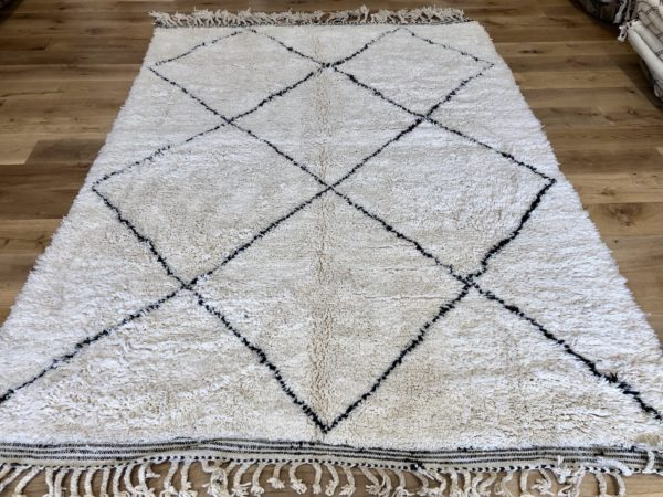 large area rug white carpet black geometric design moroccan berber rug