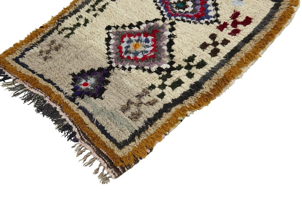 Small Moroccan Vintage Azilal Rug
