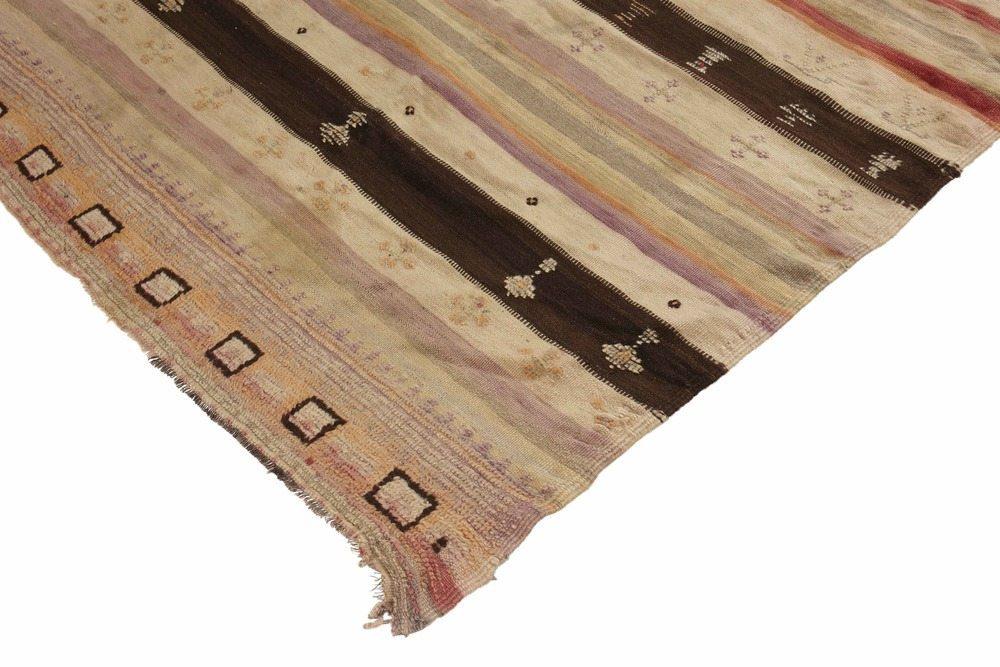 Vintage Moroccan Flat Weave Rug