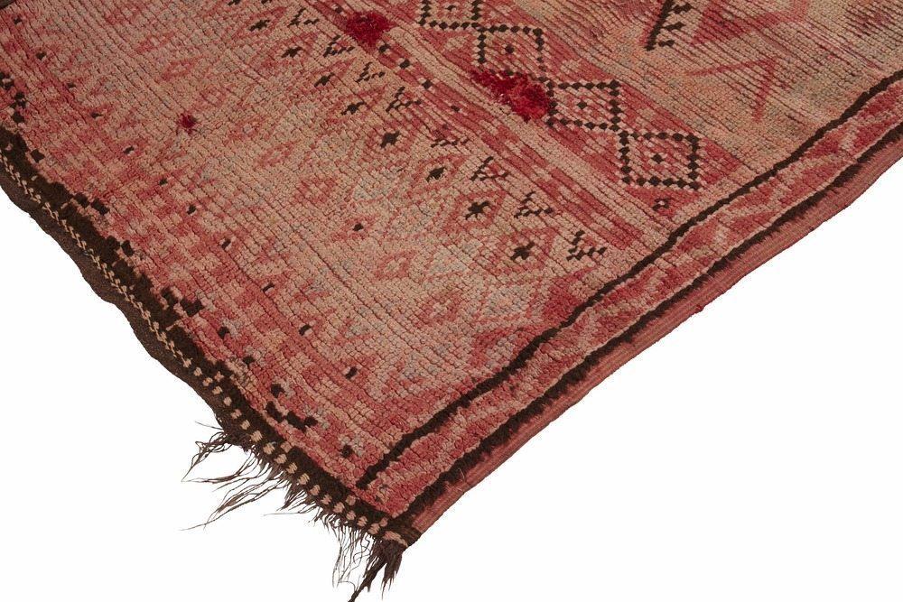 Vintage Blush Pink Moroccan Rug