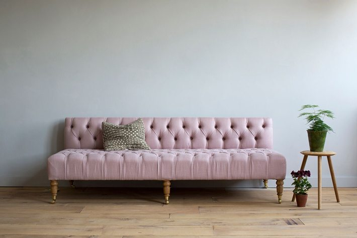 Cassandra's deep-buttoned Daybed was inspired by the idea of making every space in your home useful
