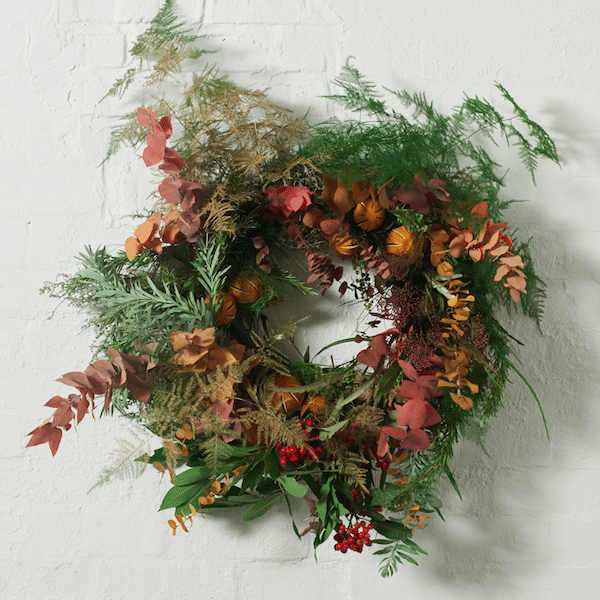 Keep it natural with a fresh floral wreath from Grace and Thorn
