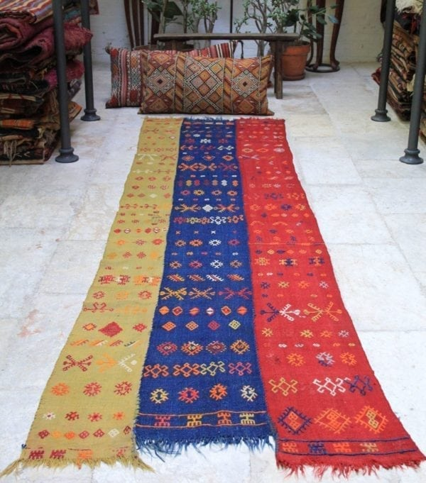 Playful Trio - XL kilim runner