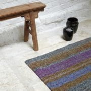 Small Striped Turkish Caput Rug - Hand woven with Cotton