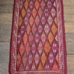 Small Vintage Turkish Runner Rug - Hand Woven with Wool