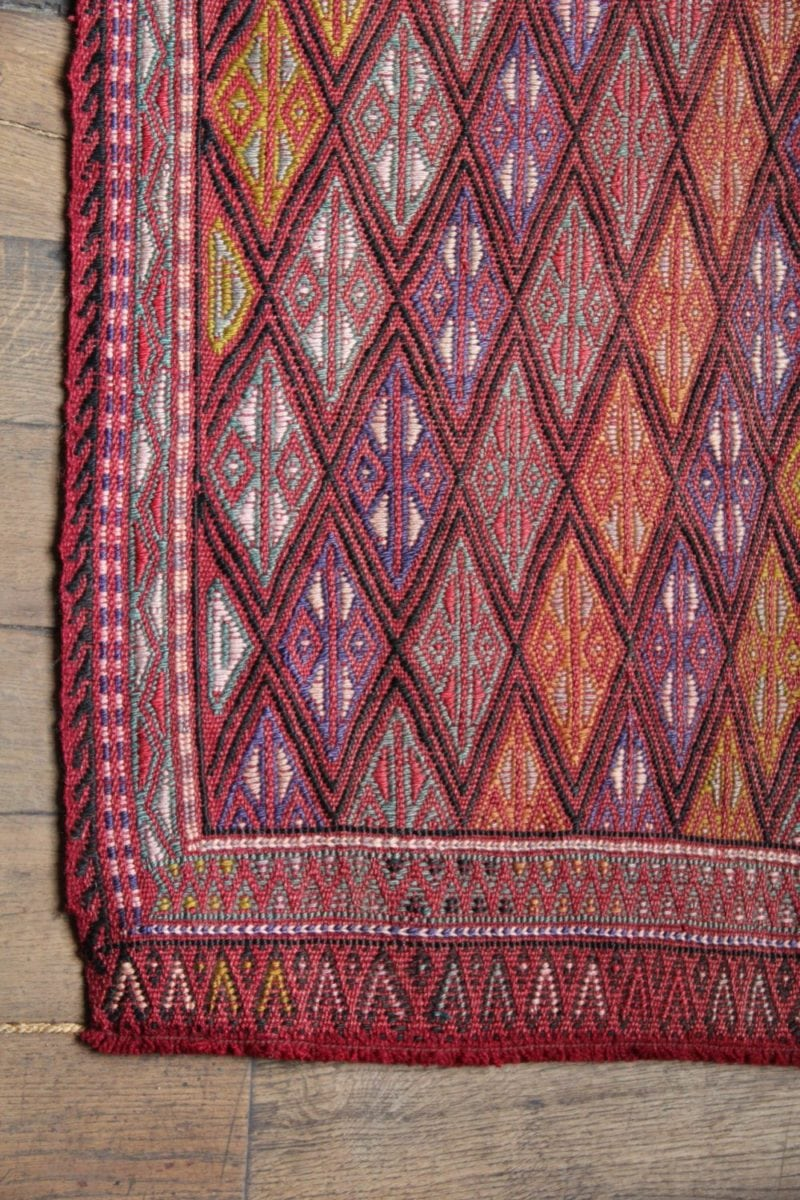 Small Vintage Red Turkish Runner Rug Emily S House London