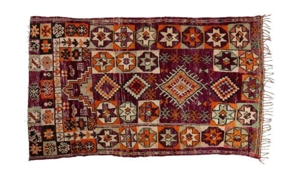Vintage Boujad Rug, Middle Atlas Mountains, Morocco