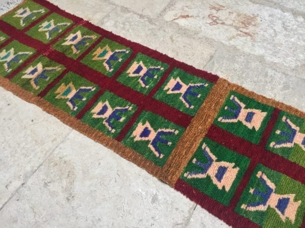 Vintage Turkish Tulu Runner - Handwoven with Wool and Cotton